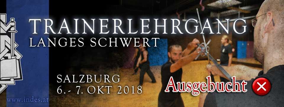 Trainerlehrgang Langes Schwert 2018 @ Sportzentrum Mitte | Salzburg | Salzburg | Österreich